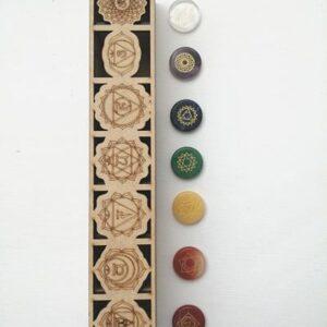Set 7 chakras grabados