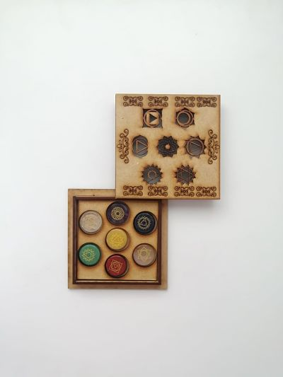 it 7 chakras grabados caja cuadrada