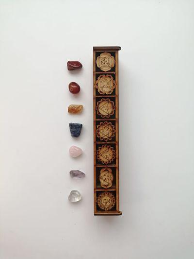 kit 7 chakras con caja